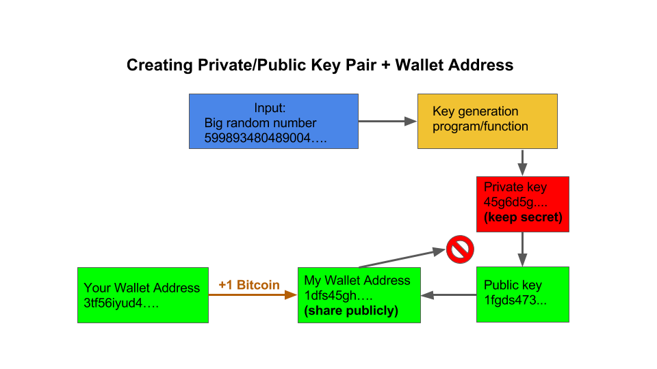 What are crypto wallet addresses and public/private keys?