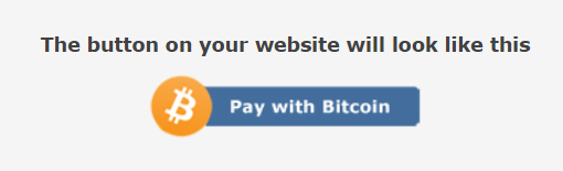 Bitcoin checkout button for ecommerce website.