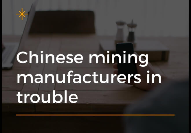 Chinese mining manufacturers negatively impacted by US-China trade war