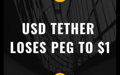 USD Tether (USDT) loses it's peg to $1 due to FUD! (News & Analysis)